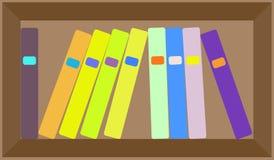 План книжных полок вектора плоский красочный Стоковая Фотография