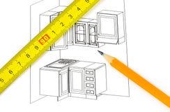 План кухни Стоковое Фото