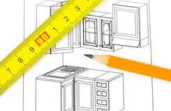 План кухни Стоковое Изображение RF