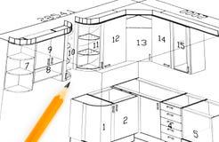 План кухни Стоковое Изображение