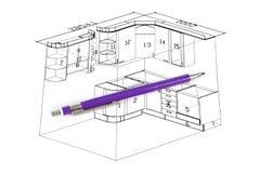 План кухни Стоковое фото RF