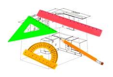 План кухни Стоковые Изображения RF