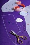 План на ткани Стоковое Изображение