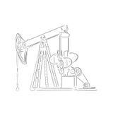 План нефтяной вышки, иллюстрации вектора Стоковая Фотография RF