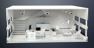 план офиса перевода 3D Стоковое Изображение