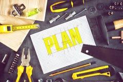 План проекта для домашнего Redecoration Стоковая Фотография RF