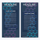 План рогульки листовки Шаблон фирменного стиля обложки журнала Дизайн науки и техники, дна структуры Стоковые Фотографии RF
