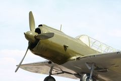 План старого самолета Стоковое Изображение