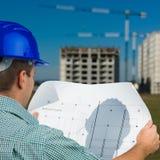 План строительства чтения инженера Стоковые Фото