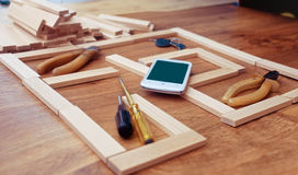 План строительства для жилищного строительства Стоковая Фотография