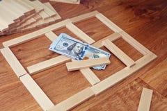 План строительства для жилищного строительства Стоковые Изображения RF