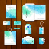 План шаблона дизайна идентичности дела марки фирмы Письмо, Letterhead, папка, карточка Треугольник компании вектора бесплатная иллюстрация