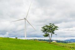 План энергии ветра Стоковое фото RF