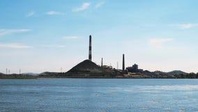 План электропитания газовой турбины около реки акции видеоматериалы
