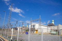 План электропитания газовой турбины Стоковое Изображение
