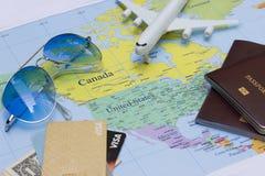 План для того чтобы путешествовать концепция Стоковое Изображение
