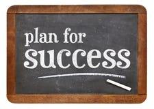 План для успеха - знака классн классного Стоковые Изображения