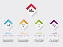 План Infographic для вебсайта или печати с значками на кнопках бесплатная иллюстрация