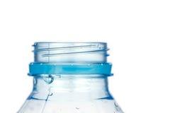 Пластичная бутылка без крышки изолированной на белой предпосылке Стоковое фото RF