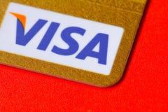 Пластичная ВИЗА кредитной карточки Стоковая Фотография