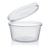 Пластичная устранимая чашка соуса Стоковые Изображения RF