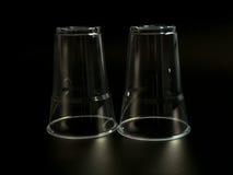 Пластичное стекло на черной предпосылке Стоковая Фотография