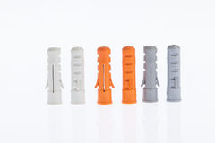 Пластичные анкеры стены Стоковые Фотографии RF