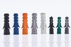 Пластичные анкеры стены Стоковые Фото