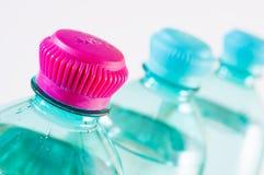 Пластичные бутылки подробно Стоковые Изображения