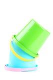 Пластичные ведра Стоковые Фотографии RF