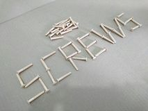 Пластичные винты Стоковое Изображение RF
