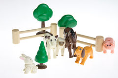 Пластичные животноводческие фермы игрушки Стоковые Фото