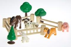 Пластичные животноводческие фермы игрушки Стоковые Изображения