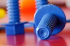 Пластичные игрушки, винты и гайки Стоковые Изображения RF