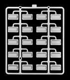 Пластичные кнопки кнопочной панели соединились с вспомогательным пластичным lin Стоковое фото RF