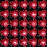 Пластичные красные сердца Стоковое Изображение RF