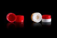 пластичные крышки Стоковая Фотография RF