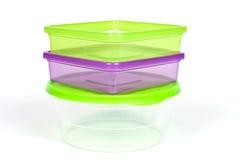 Пластичные пищевые контейнеры Стоковое Фото