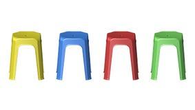 пластичные стулья табуретки 3D Стоковые Фото