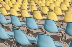 Пластичные стулья Стоковое Изображение RF