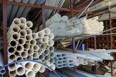 Пластичные трубы для конструкции дома Стоковая Фотография