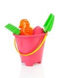 Пластичные цветастые игрушки пляжа Стоковое Изображение