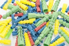Пластичные штепсельные вилки стены Стоковое Изображение RF