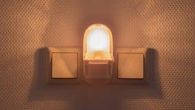 Пластичный загораться nightlight стоковое изображение rf