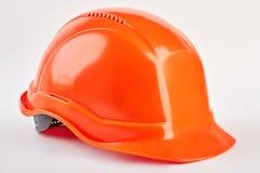 Пластичный изолированный шлем безопасности Стоковая Фотография