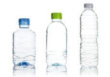 Пластичный изолят бутылки с водой Стоковое фото RF