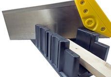 Пластичный инструмент коробки ручной пилы и митры отрезка угла Стоковое Изображение