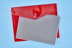 Пластичный конверт документа Стоковые Фотографии RF