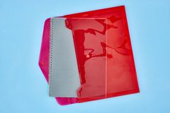 Пластичный конверт документа Стоковые Изображения