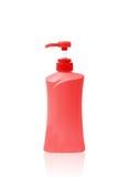 Пластичный насос бутылки геля, жидкостного мыла, лосьона, сливк, шампуня Стоковая Фотография RF